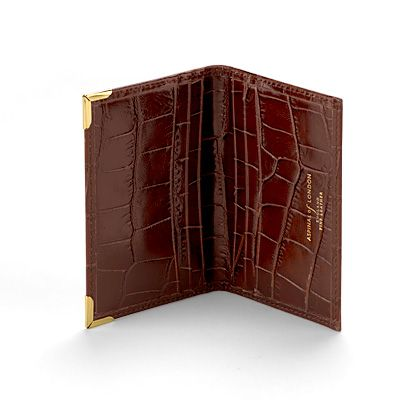 Amazon Brown Double fold credit card case