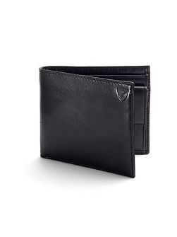 Aspinal of London Coin Wallet in Black EBL