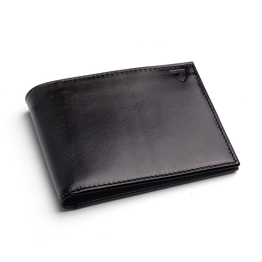 Coin Wallet in Black EBL & Cobalt Suede