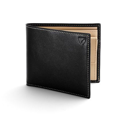 Coin wallet in black & ivory ebl