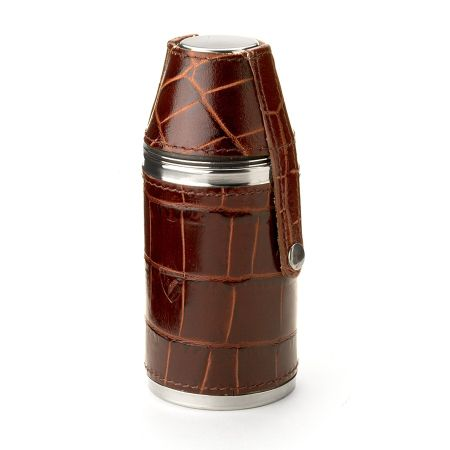 Aspinal of London 4.5 hunter leather flask