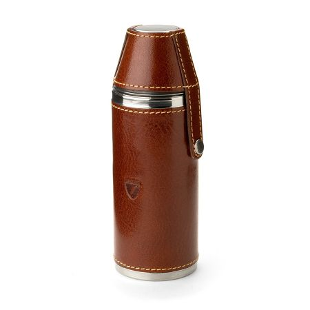 Aspinal of London 6 hunter leather flask
