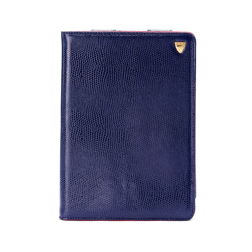 Aspinal of London Ipad mini stand up case Midnight Blue