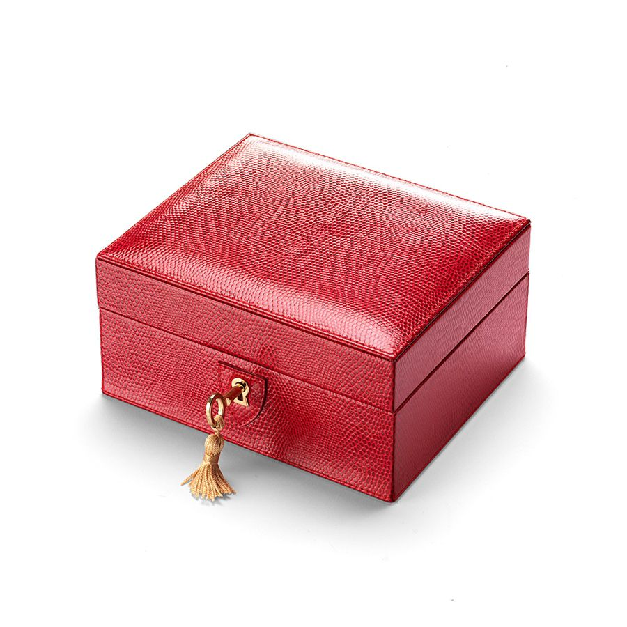 Aspinal of London Bijou jewellery box Red