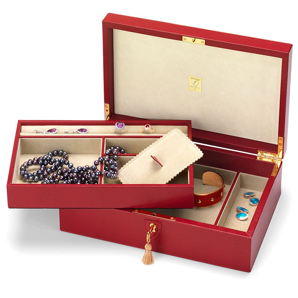Aspinal of London Savoy jewellery box Berry
