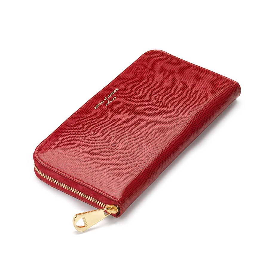 Aspinal of London Continental clutch wallet Red