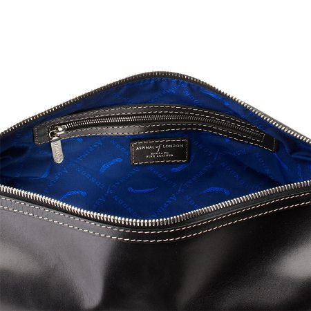Aspinal of London Men`s Classic Black Washbag