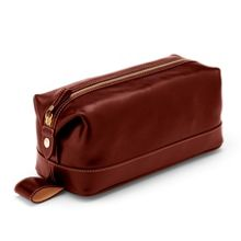 Aspinal of London Men`s Classic Cognac Washbag