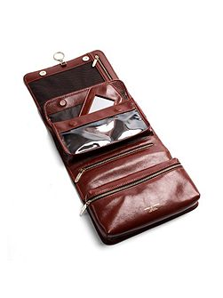 Aspinal of London Men`s hanging Washbag - Cognac