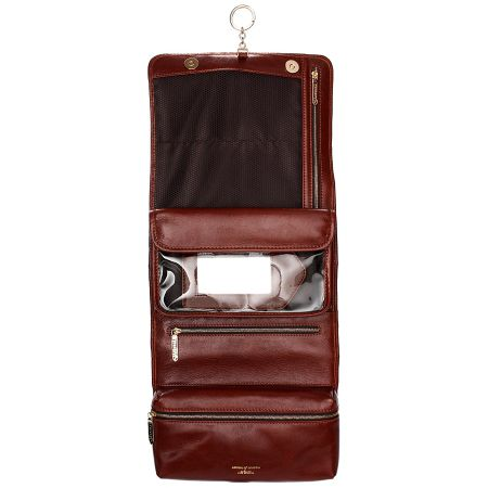 Aspinal of London Men`s hanging Washbag - Cognac EBL