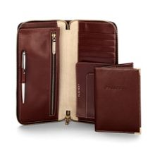 Aspinal of London Zipped travel wallet with passport cover
