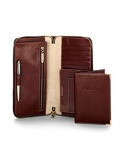 Aspinal of London Zipped travel wallet with passport