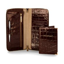 Zipped travel wallet with passport cover