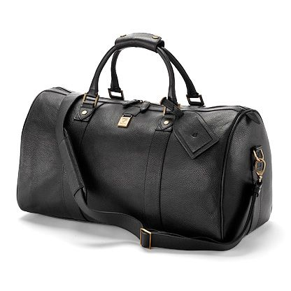 Boston bag in black deer