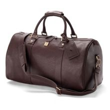 Aspinal of London Boston bag in dark brown deer