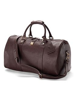 Boston bag in dark brown deer