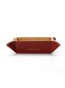 Mini Tidy Tray in Smooth Cognac & Stone