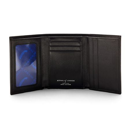 Aspinal of London Trifold Wallet Smooth Black