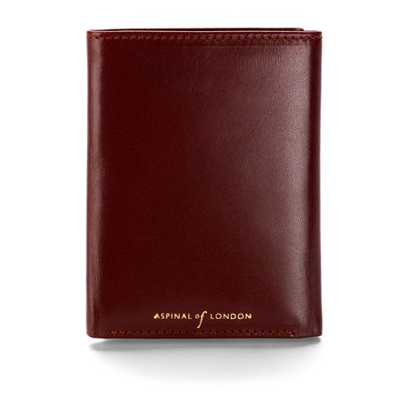 Aspinal of London Trifold Wallet Smooth Cognac