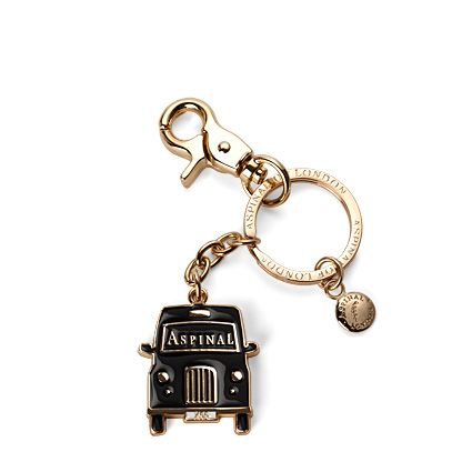 Aspinal of London London key ring taxi Black