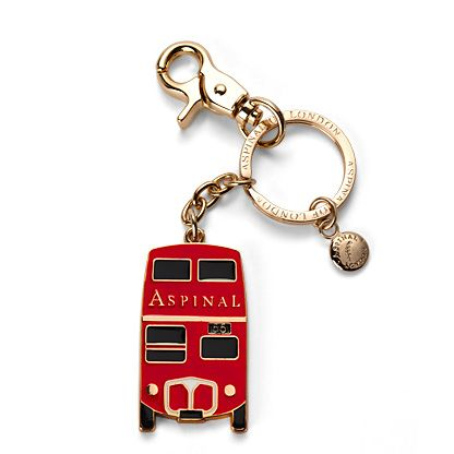 Aspinal of London London Key Ring London Red