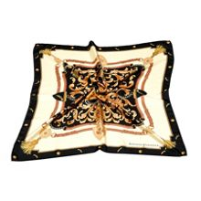 Ladies Silk Scarf - Aspinal Crest & Horseshoes