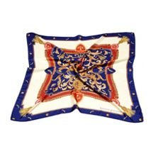 Aspinal of London Ladies Silk Scarf - Aspinal Crest & Horseshoes