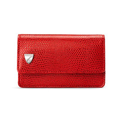 Business & Credit Card Case in Red Lizard print