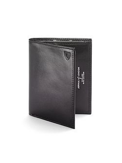 Double credit card case pocket smooth black