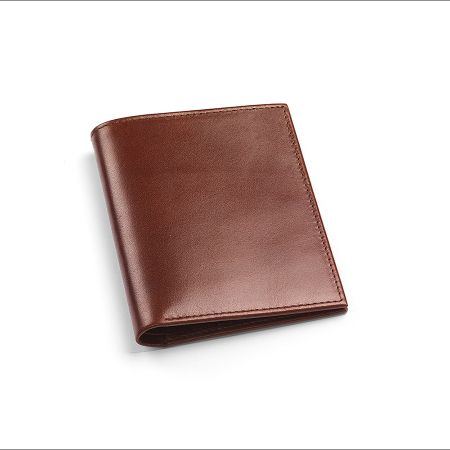 Aspinal of London Double credit card case pocket smooth cognac
