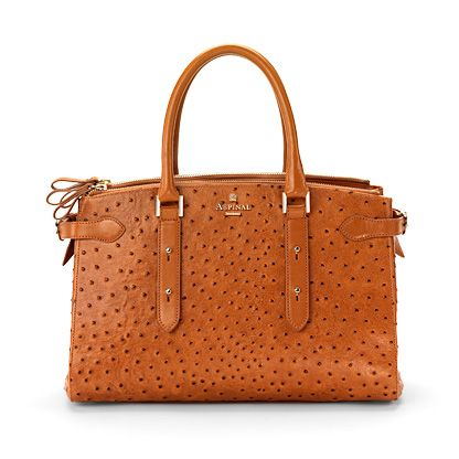 Brook Street Bag Tan Ostrich