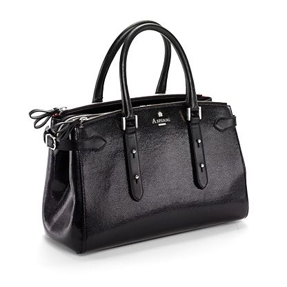 Brook Street Bag Black Lizard