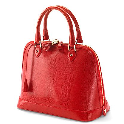 Hepburn bag red lizard print