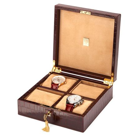 Aspinal of London Square 4 Watch Box