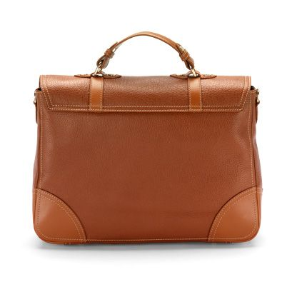 Mollie satchel bag tan pebble & smooth london tan