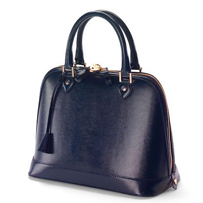 Hepburn bag navy lizard print