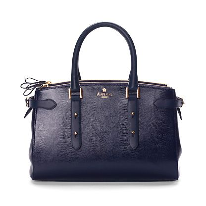 Brook Street Bag Navy Lizard print