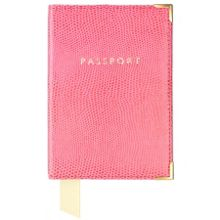 Plain Passport Covers Pink Lizard Print