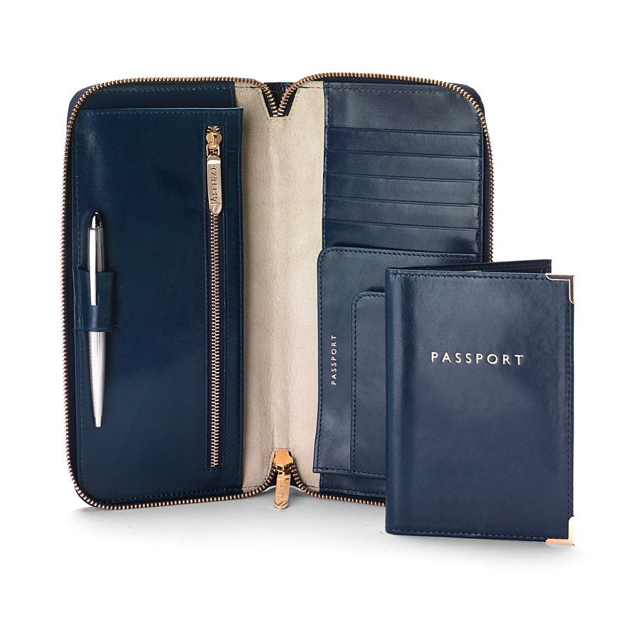 Zipped travel wallet & passport set