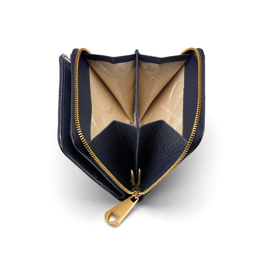 Katie coin purse navy pebble