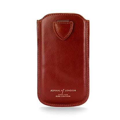 Iphone 5 case smooth cognac & espresso suede