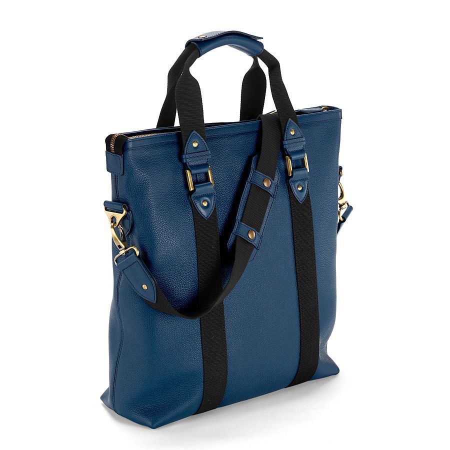 W.1. tote bag navy pebble