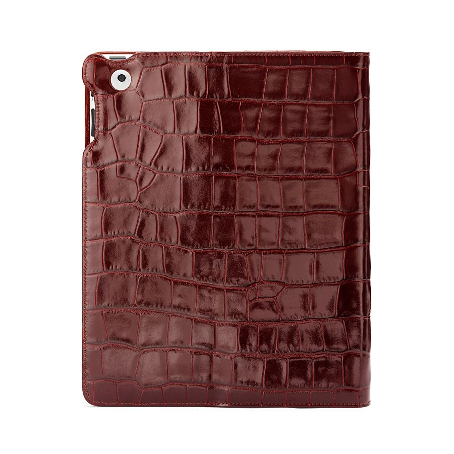 Ipad 3 stand-up case - amazon brown croc & espres