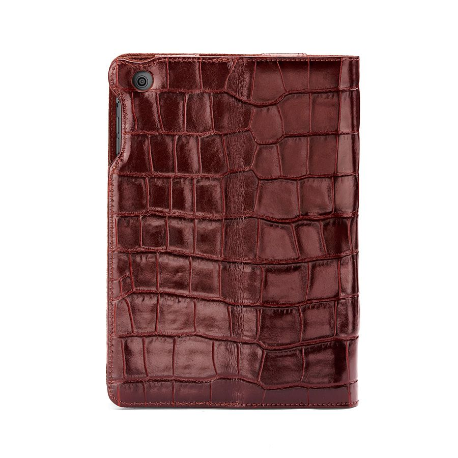 Ipad mini stand-up case - amazon brown croc & esp