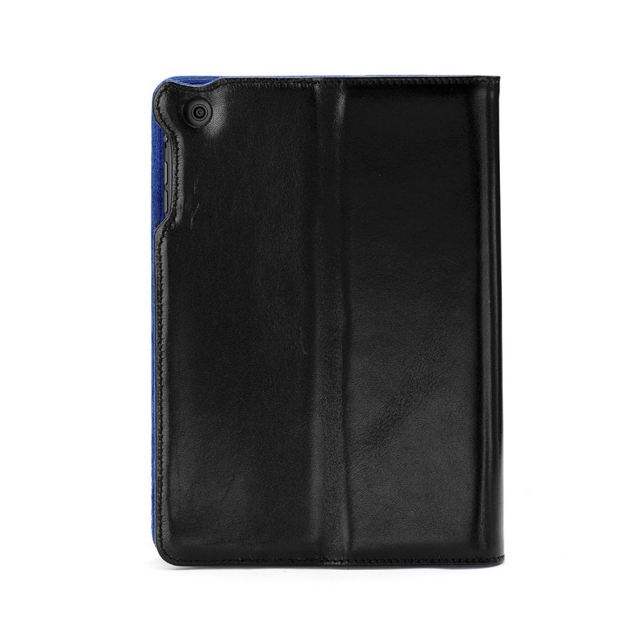 Ipad mini stand-up case - black ebl & cobalt blue