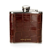 Classic 5oz leather hip flask