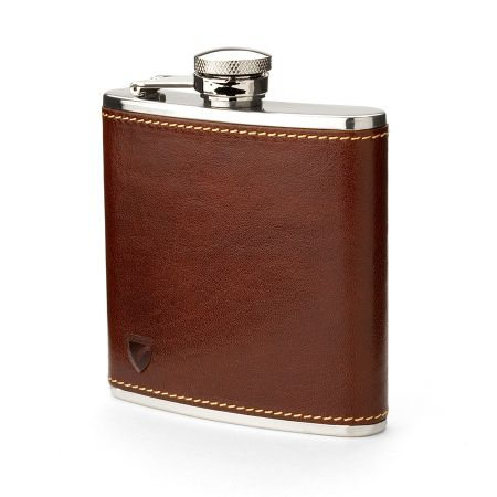 Aspinal of London Classic 5oz leather hip flask