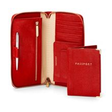 Aspinal of London Zipped travel wallet & passport set