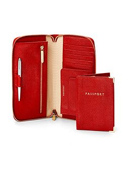 Aspinal of London Zipped travel wallet & passport