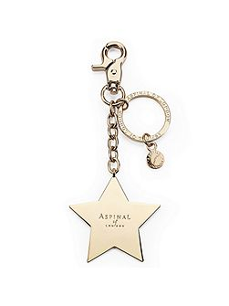 Metal star keyring gold plated